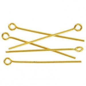1 Inch Eye Pin Gold Plate (500pc)