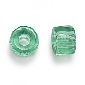 9mm Mint Faceted Pony Beads Loose (300pc)