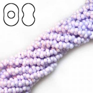 Farfalle 3.2x6.5mm Lavender - 6 Strings of 20 Inch (Apx 936 Czech Glass Beads, 125 Gm)