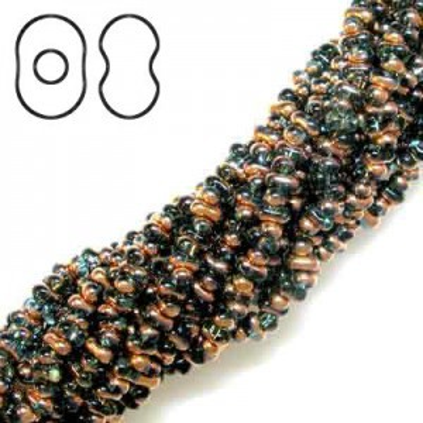 Farfalle 3.2x6.5mm Aqua Capri - 6 Strings of 20 Inch (Apx 936 Czech Glass Beads, 125 Gm)