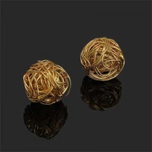 20mm Handmade Wired Round Bead Forever Gold™ 1pc