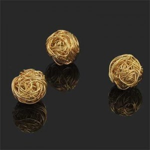 17mm Handmade Wired Round Bead Forever Gold™ 1pc