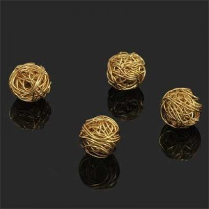 13mm Handmade Wired Round Bead Forever Gold™ 1pc