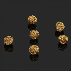 7mm Handmade Wired Round Bead Forever Gold™ 2pcs