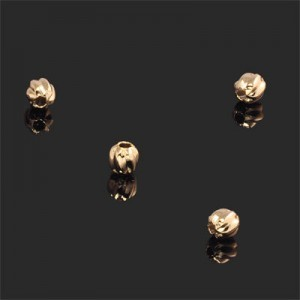 5.5mm Wavy Round Bead Forever Gold™ 10pcs