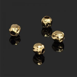 6.5mm Wavy Round Bead Forever Gold™ 10pcs