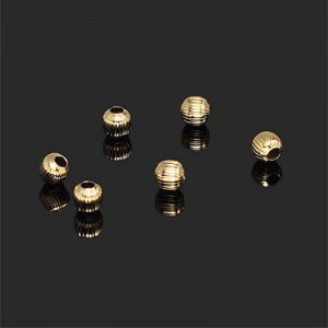 4.5mm Corrugated Round Bead Forever Gold™ 20pcs