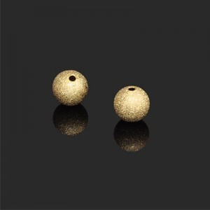 10mm Stardust Round Bead Forever Gold™ 2pcs