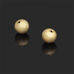 12mm Stardust Round Bead Forever Gold™ 2pcs