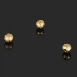 6mm Stardust Round Bead Forever Gold™ 10pcs