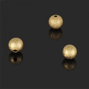 7mm Stardust Round Bead Forever Gold™ 5pcs
