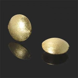 18mm Brushed Coin Bead Forever Gold™ 1pc