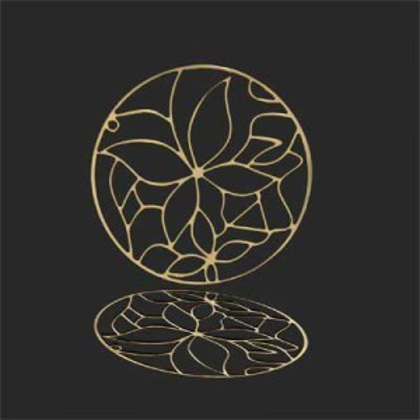 40mm Filigree Butterfly Medallion Forever Gold™ 2pcs