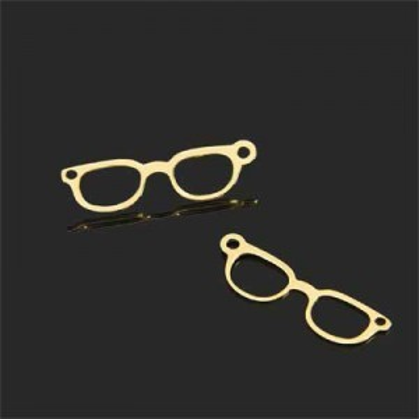 7x20mm Glasses Charm Forever Gold™ 5pcs
