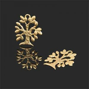 20x15mm Tree of Life Charm Forever Gold™ 5pcs