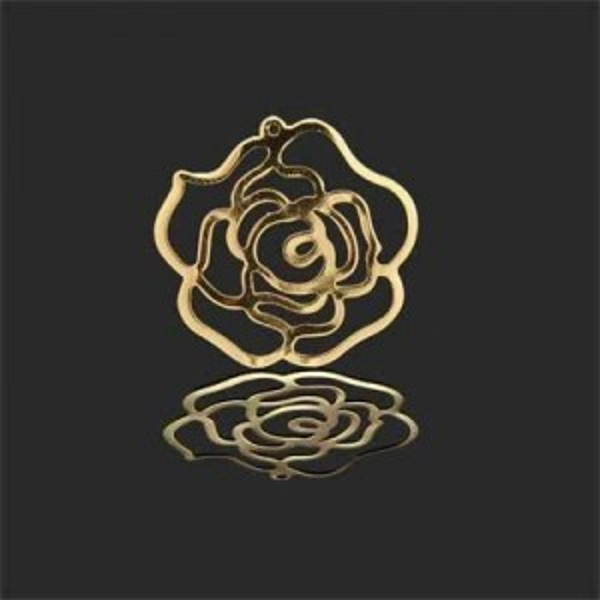 25mm Rose Charm Forever Gold™ 5pcs