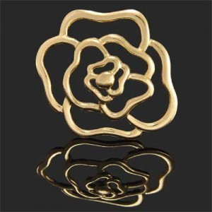 35mm Rose Charm Forever Gold™ 1pc