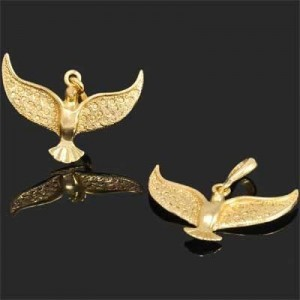 35mm Dove Charm Forever Gold™ 1pc