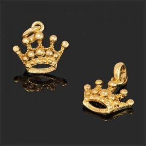 22x28mm Crown Charm Forever Gold™ 1pc