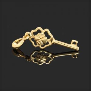 43x15mm Love & Luck Key Charm Forever Gold™ 1pc