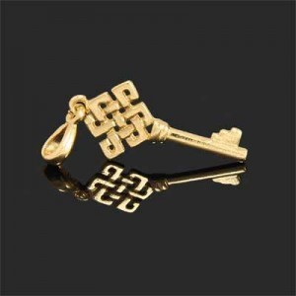 43x15mm Celtic Key Charm Forever Gold™ 1pc
