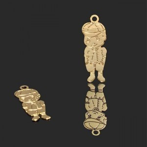 20x7mm Boy Charm Forever Gold™ 2pcs