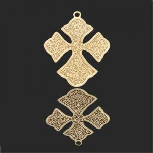 26x22mm Cross Patonce Forever Gold™ 2pcs