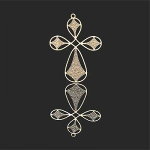 36x26mm Cross W Looped Arms Forever Gold™ 2pcs