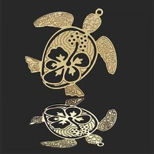 35mm Sea Turtle Charm Forever Gold™ 1pc