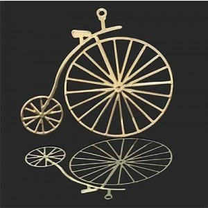 38x42mm Penny-Farthing Bicycle Pendant Forever Gold™ 1pc