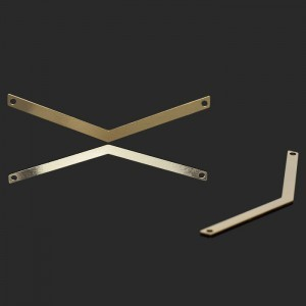 50x12mm Chevron 2 Hole Bar Forever Gold™ 5pcs