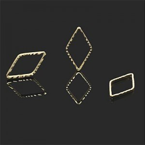 16x8mm Diamond Connector Forever Gold™ 5pcs