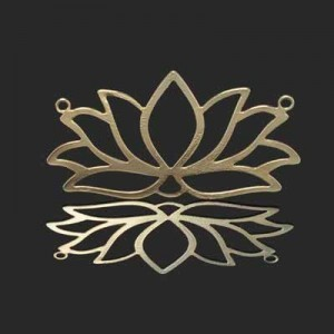 23x42mm Lotus Flower Connector Forever Gold™ 1pc