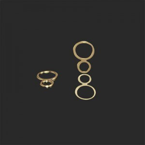 11x8mm Figure 8 Connector Forever Gold™ 20pcs