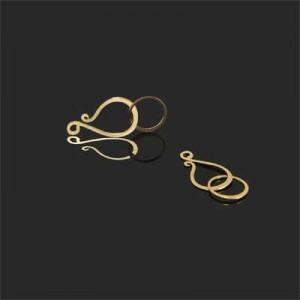 19mm Hook + 10mm Round Eye Clasp Forever Gold™ 5pcs