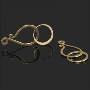 25mm Hook + 14mm Round Eye Clasp Forever Gold™ 2pcs