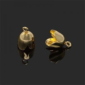 8mm Cord End W/ Ring 6mm Id Forever Gold™ 5pcs