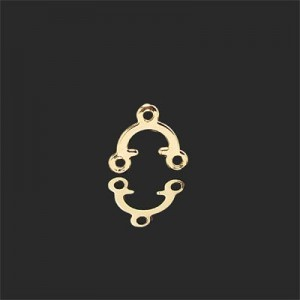 9x10mm 2 Loops Chandelier Earring Component Forever Gold™ 20pcs