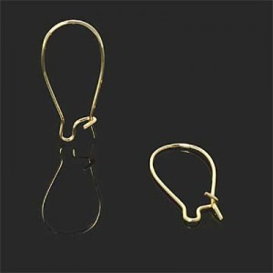30mm Kidney Ear Wire Forever Gold™ 2pairs