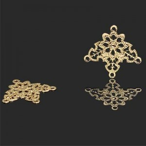 20x22mm 3 Loops Chandelier Earring Forever Gold™ 2pcs