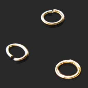 3.5x5mm Open Jump Ring 0.75mm Wire Forever Gold™ 100pcs