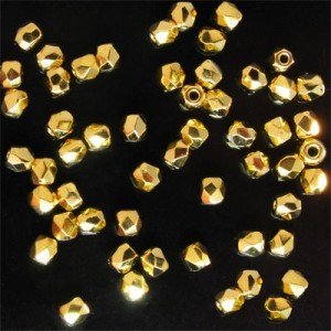 2Tiny™ 2mm 24k Gold Fully Coated Fire Polished Round Bead Loose (600pc)