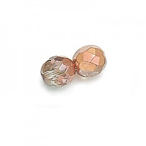 4mm Crystal Copper Fire Polished Round Bead Loose (600pc)