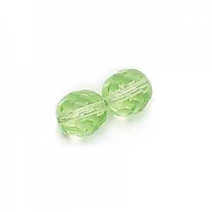 4mm Light Peridot Round Fp Czech Beads - 7 Inch Strand (Apx 44 Beads)