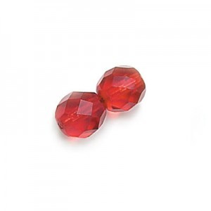 3mm Siam Fire Polished Round Bead Loose (600pc)