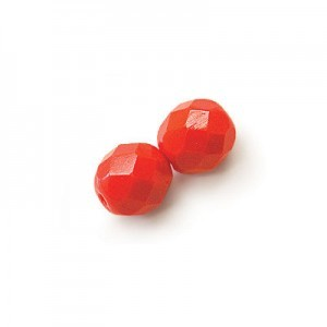 6mm Coral Fire Polished Round Bead Loose (600pc)