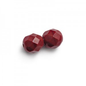 3mm Blood Red Fire Polished Round Bead Loose (600pc)