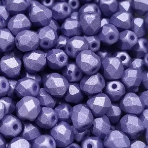 4mm HQ Matte Metallic Violet Fire Polished Round Bead (600pc)