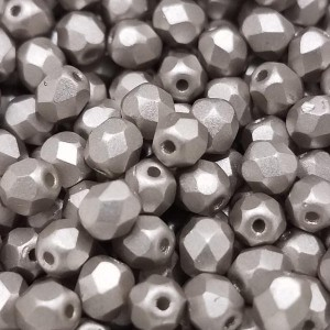 4mm HQ Metallic Cocoa Fire Polished Round Bead (600pc)