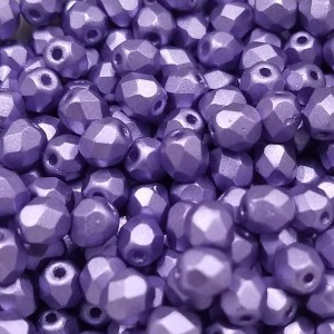 4mm HQ Metallic Violet Fire Polished Round Bead (600pc)